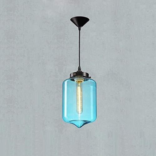 Mopoq Moderne Decke Single Head Hand Blown Blau Blase Glaszylinder Kronleuchter Tischlampe Restaurant Beleuchtung Küche Bar Kronleuchter Kronleuchter