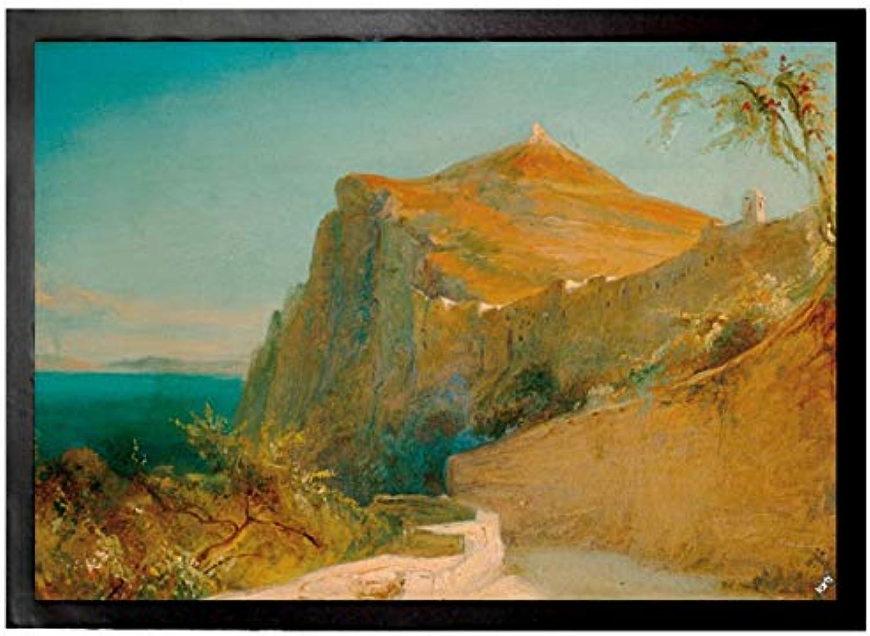 Carl Blechen Door Mat Floor Mat - Rock of Tiberius On Capri, 1829-30 (28 x 20 inches)