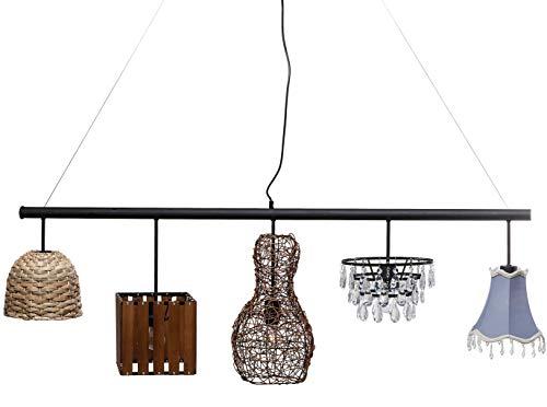 Kare Design Hängeleuchte Parecchi Art House 150cm, edle Deckenleuchte mit 5 verschiedenen Lampenschirmen, schöne Pendelleuchte, (HxBxT) 46 x 150 x 25 cm