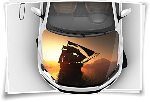 Medianlux Meer Schiff Piraten Motorhaube Auto-Aufkleber Steinschlag-Schutz-Folie Airbrush Tuning Car-Wrapping Luftkanalfolie Digitaldruck