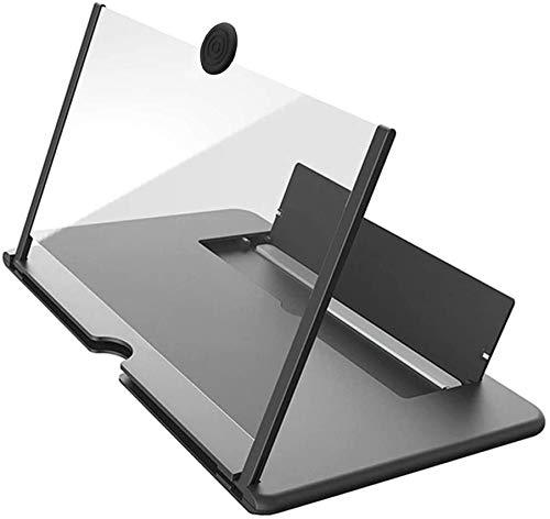 Ciel Screen Magnifier,Lente d'Ingrandimento dello Schermo,Amplificatore per Telefono Cellulare 3D HD da 12 Pollici,Pieghevole, Portatile,Adatto a Tutti Gli Smartphone