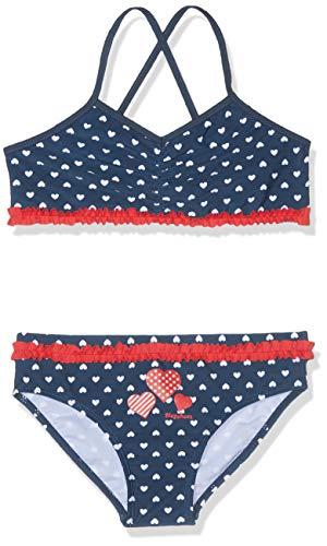 Playshoes Mädchen UV-Schutz Bikini Herzchen, Blau (Marine 11), 122/128