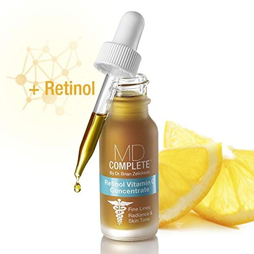 MD Complete Retinol Vitamin C Concentrate Serum - professional dermatologist skincare anti-aging skin rejuvenation for face and body serum
