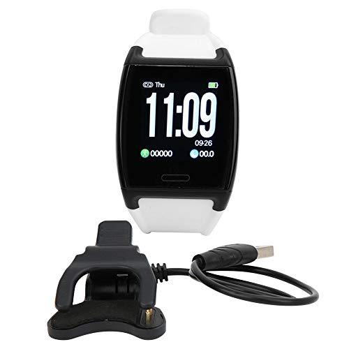 Marhynchus Smart Bracelet wasserdichte Sportuhr Farbbildschirm Armbanduhr Herzfrequenz Blutdruck Schlafmonitor(V2-White)