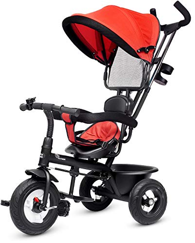 R for Rabbit Tiny Toes Sportz - The Stylish Plug and Play Baby Tricycle for Kids/Baby with Rubber Wheels (Red)