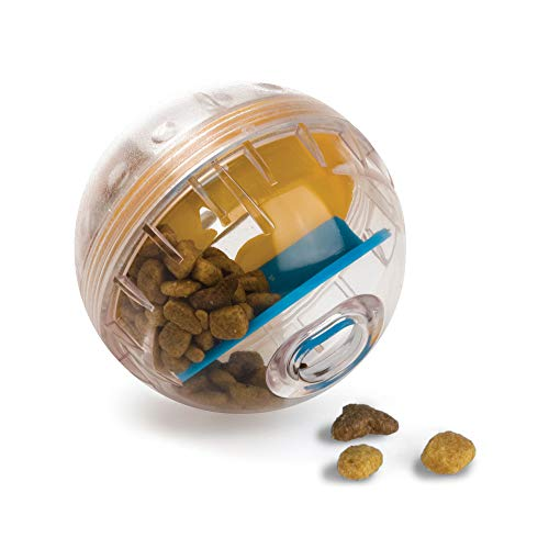 Pet Zone IQ Treat Ball Adjustable Dog Treat Ball (Slow Feeder, Dog Puzzle Toy, Treat Dispensing Toy and Interactive Dog Toy in One)