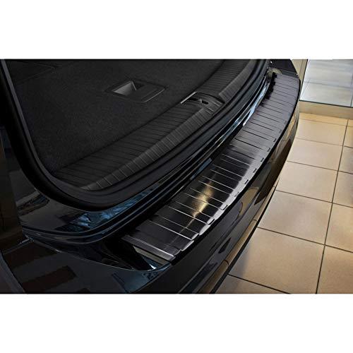 Avisa Protection de seuil arrière inox noir compatible avec Volkswagen Touran III 2015- 'Ribs'