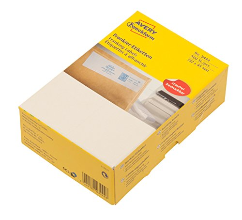 AVERY Zweckform 3444 Frankier-Etiketten (für Francotyp-Postalia, Papier matt, 132 x 45 mm) 500 Stück weiß