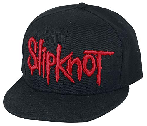 Slipknot Logo Unisex Cap schwarz 100% Polyacryl Band-Merch, Bands