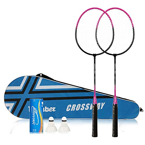 ISWAKI 2 Player Badminton Racquets Set Speed ​​Badminton Professional Carbon Fiber Badminton Racket