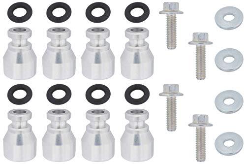 ICT Billet Fuel Injector Spacer Set of 8 LS1 Intake to LS2 or Flex Fuel Injector Adapter ICT Billet Designed & Manufactured in the USA LS1 LS2 LMG L59 551287-LS-047