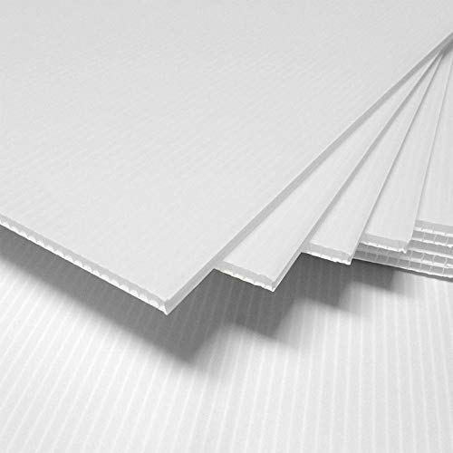 (3 Pack) 4mm White 24' x 48' Corrugated Plastic Coroplast Sheets Sign Vertical