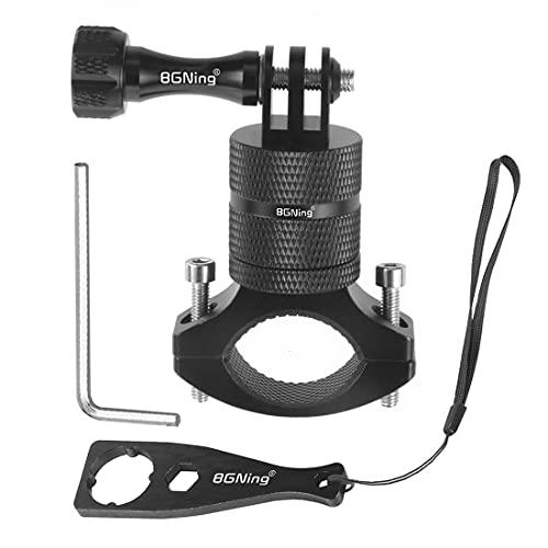 BGNing Manillar de cámara de bicicleta de montaña compatible con GoPro todos los modelos/cámaras de acción, montaje de bicicleta de montaña, rotación de 360 grados versión mejorada