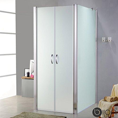 U-Dusche | Matt | 100x110x195cm (Tür x 2SW x H) | Nano | Glas Duschkabine U-Form mit Pendeltür