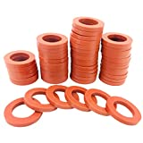 SHOWNEW 50PCS Garden Hose Washers Rubber Washers Seals, Hose Gaskets Heavy Duty Water Hose Washers O Rings Leakproof Fittings for Standard 3/4 Inch Garden Shower Hose and Water Faucet