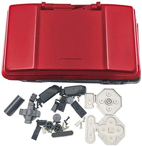 Coque de protection de rechange pour console de jeu Nintendo DS NDS Rouge