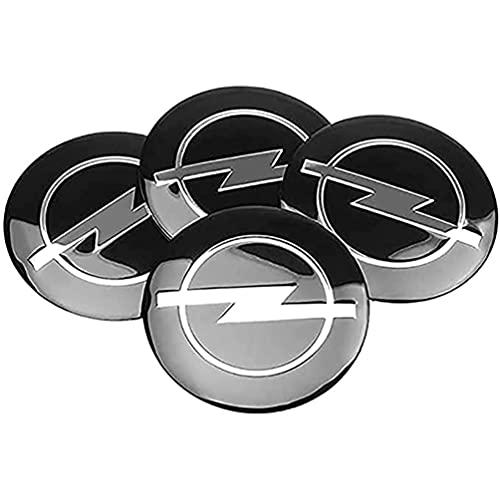 4Pcs Car Tapacubos, para Opel Astra H Corsa Insignia Antara Meriva Zafira 56mm Hub Centre Caps Center Emblem Wheel Cubiertas llanta Insignia Pegatina Decoración, Auto Estilo Accesorios
