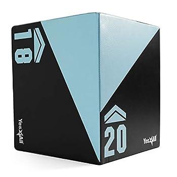 Yes4All 3 in 1 Foam Plyo Box Plyometric Box Platform for Crossfit Jump Training MMA & Conditioning  Heavy Duty - 20  x 18  x 16  - 26.5Lb