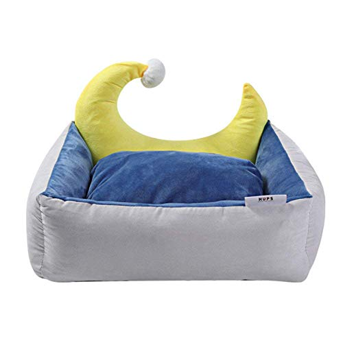 Cama para mascotas Mantiga for mascotas - Bed -Dog Cama grande Tamaño - Colchón de perro resistente al agua y lavable Apto for mascotas domésticas, Sofá de cachorro, Azul, S Cama para mascotas dog cat