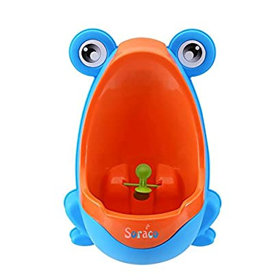 Soraco Frog Potty Training Urinal for Toddler Boys Toilet with Aiming Target -Blue by