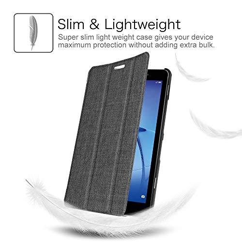 Fintie Huawei Mediapad T3 8 Hülle Case - Ultra Dünn Superleicht SlimShell Ständer Cover Schutzhülle Tasche mit Zwei Einstellbarem Standfunktion für Huawei T3 20,3 cm (8,0 Zoll), Denim dunkelgrau - 3