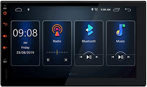 Android 10 Estéreo para automóvil Doble 2 Din In Dash Auto Radio Navegación GPS 2GB RAM 16GB ROM Unidad principal de pantalla táctil de 7 pulgadas Soporte DSP integrado CarAutoPlay Entrada DVR / WiFi