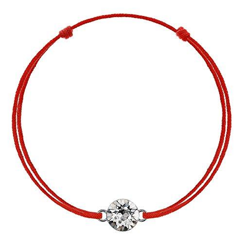 e-Crystal Kabbala Unisexarmband Glücksarmband Rote Schnur Damen Herren Kinder Geschenk