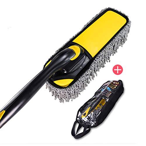 RUIX Autowaschbürste/Bürstenmop/Kehren Staub/Drehbare/Autowaschzubehör,Yellow