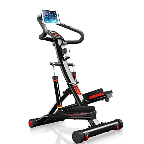 Ejercicio Step Machine Fitness Elíptica Stepper Cross Step Trainer, puede ajustar 12 engranajes de resistencia para mejorar el entrenamiento, uso doméstico Máquina de escalada multifuncional de mano