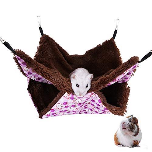 Cavia Bed Hamster Bed Kitten Bed Huisdier Hangmat Twee-Layer Eekhoorn Slaapzak Hamster Hangmat Konijn Bedden Voor Binnenshuis Fret Hangmatten purple,l