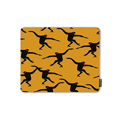 Moslion Mouse Pad Black Gibbon Monkey Animal Print The Silhouette of Funny Animal Jungle Ape Gaming Mouse Mat Non-Slip Rubber Base Thick Mousepad for Laptop Computer PC 9.5x7.9 Inch