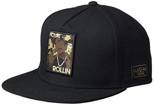 Cayler und Sons Unisex-Adult Herren Snapback Caps WI 2pac Rollin schwarz Einheitsgröße Cap, Black/Woodland, CS1158017980050