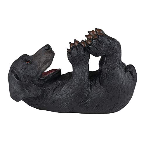 True Lucky Lab Tabletop Wine Bottle Holder Countertop Centerpiece Labrador Kitchen Decor for Dog Lovers Barware Accessory, Black