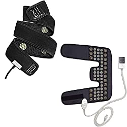 """UTK Far Infrared Jade & Tourmaline Neck&Shoulder Heating Pad and Flexible Heating Wrap, Medium (31""""X21"""") and Long Heating Wrap, Smart Cord and Auto Off"""