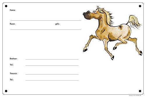 Boxenschild/Stalltafel Angeber (Vollblut/Araber/Warmblut/Pony) Palomino