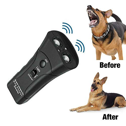 Ultraschall-Antrieb Dog Repeller Dual Head Dog Chaser Stoppen Aggressive Tier Angriffe Repeller Taschenlampe Anti Barking Training Device