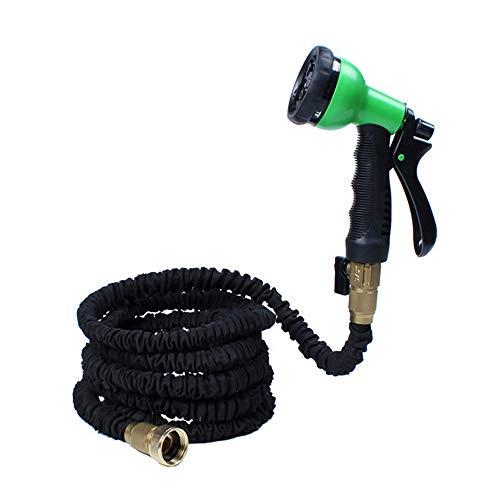 Ampliable manguera de jardín Pack de 2 telescópica del tubo de agua de múltiples funciones de alta presión de lavado de coches pistola de agua de limpieza del coche de la herramienta de prueba de fuga