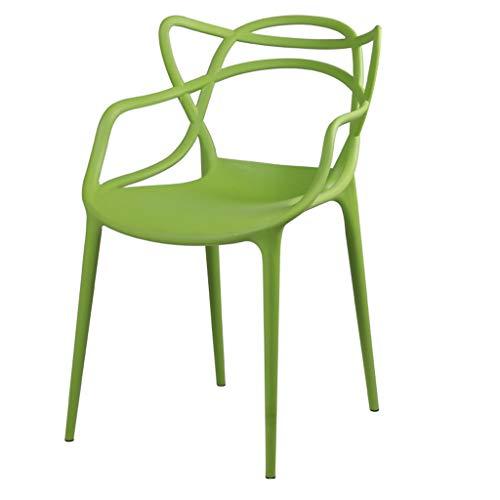 LJZslhei Stuhl Rückenlehne Haushalt Kunststoff Stuhl Hocker modernen minimalistischen Esszimmer Stuhl grün