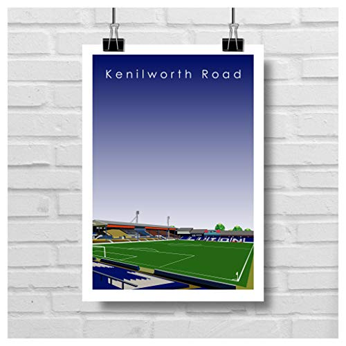 Home.Ground.Prints Wall Art Graphic Design Football Stadium Gift Print Collection - Luton Town FC 'Kenilworth Road' LTFC