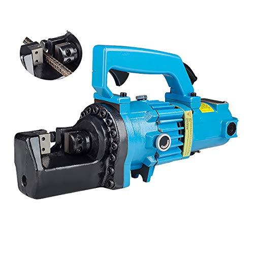 NEWTRY Automatic Hydraulic Rebar Cutter Electrical Steel Rope Cutting Tool for cutting steel bar range 4-16mm (RC-16)