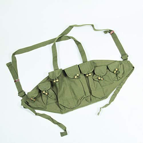 通用 Surplus Chinese Type 56 Chest Rig 7-Pocket Bandoleer Cartridge Holder Ak 47 Pouches Bag Original Item