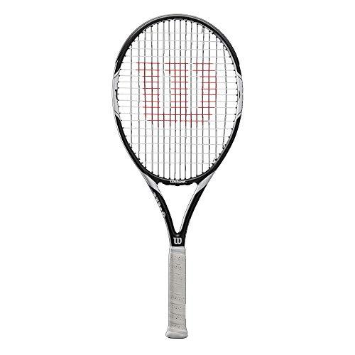 Wilson Raqueta de Tenis, Federer Team 105, Unisex, Principiantes y Jugadores intermedios, Blanco/Negro, Tamaño de empuñadura L2