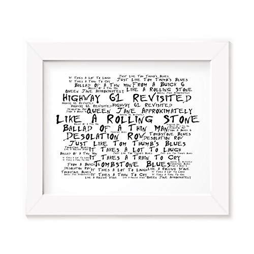 Preisvergleich Produktbild Bob Dylan Art Print - Highway 61 Revisited - Unframed Lyrics Poster