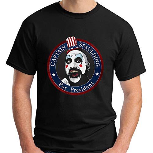 New Captain Spaulding for President Rob Zombie Black Men's T-Shirt