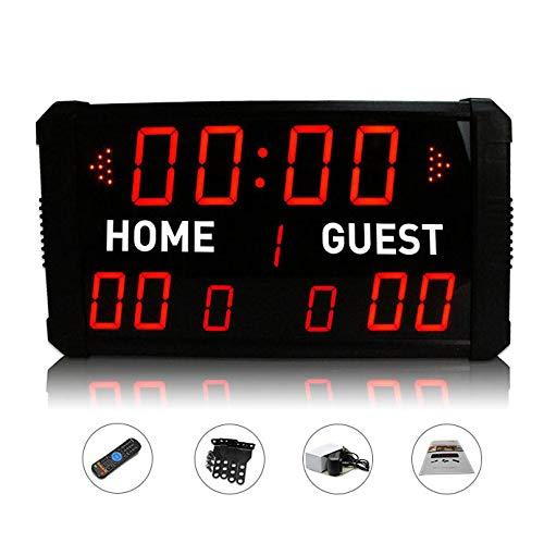 Huanyu, tabellone segnapunti di pallacanestro grande timer multifunzione ad alta precisione per palestra temporizzazione, controllo app disponibile (3+2,3 cm)
