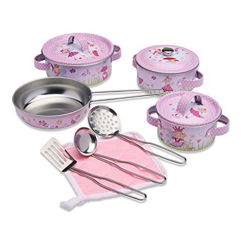 Wobbly Jelly – Utensilios de Cocina de Juguete para niños de Cuento de Hadas – Juego de Cocina Infantil de 11 Piezas – Accesorios de Cocina de Juguete