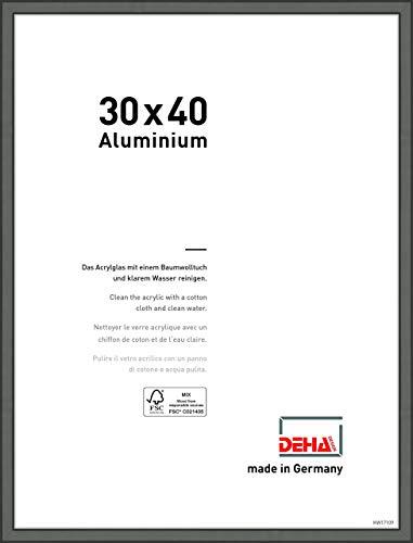 Cadre Photo DEHA en Aluminium Boston, 30x40 cm, Gris contrasté