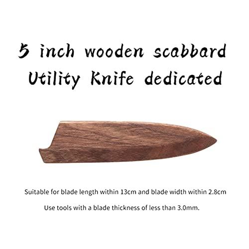 Jiewei Coltello da chef Proteggere il set di coltelli Protezione lama in legno supporto lama fodero coltello da cucina fodero