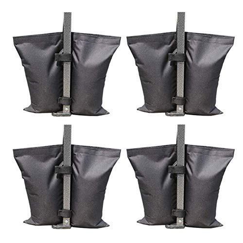 YXB Weight Bags for Pop Up Gazebo,420D Oxford Canopy Gazebos Sandbag Weighted Feet/Tent Pole Windbreak Fix Sand Anchor Bags-4 Pack