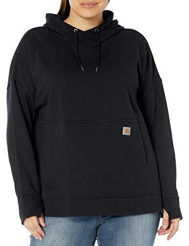 Carhartt Women's Newberry Hoodie (Regular and Plus Sizes), Black, Large